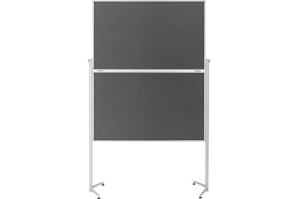 MAGNETOP. Design-Moderatorentafel 1151301 Filz grau klappbar