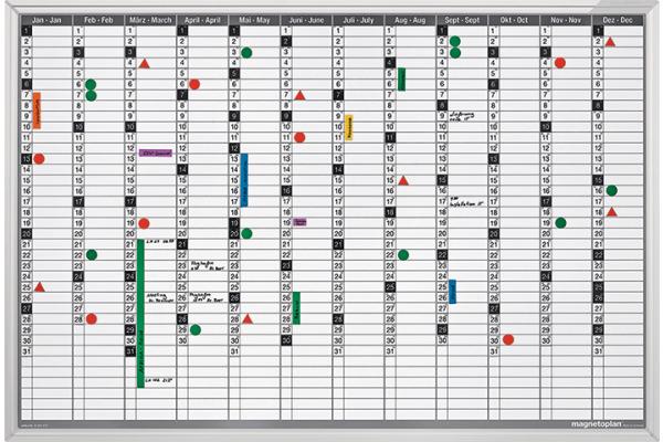 MAGNETOP. Plan-Set Jahresübersicht 1241012S Deutsch 920x625mm