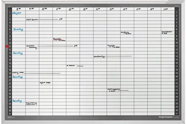 MAGNETOP. Plan-Set Monatsplaner 1249512S Deutsch 900x600mm