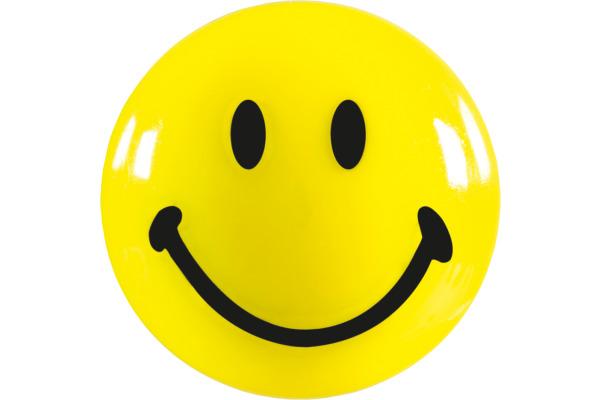 MAGNETOPLAN Smiley Magnete gelb-schwarz 16671 klein 20mm...