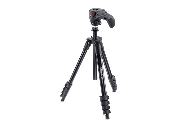 MANFROTTO Compact Action Stativ-Kit MN MKCPACN Schwarz