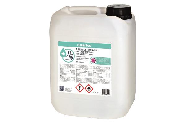 MARTEC Desinfektionsmittel 5lt 33029 Handgel, mit Aloe-Vera