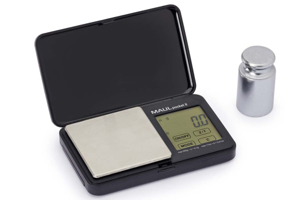 MAUL pocket II Taschenwaage 500g 1611590 schwarz