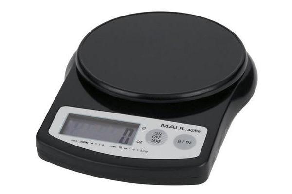 MAUL Briefwaage MAULalpha 2000g 16420 90 1g schwarz