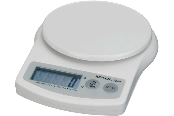 MAUL Briefwaage MAULalpha 5000g 1645002 mit Batterie