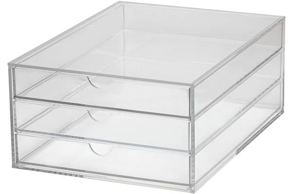 MAUL Schubladenbox Acryl A4 1950405 3 Fächer