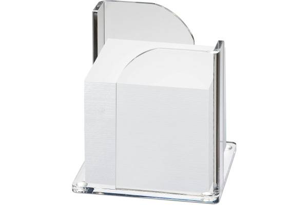 MAUL Zettelbox Acryl 102x109x102mm 19540 05 glasklar, ohne Zettel