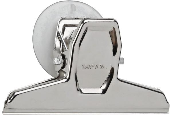 MAUL Briefklemmer MAULpro 95mm 2101096 silber, mit Saugnapf 2 Stück
