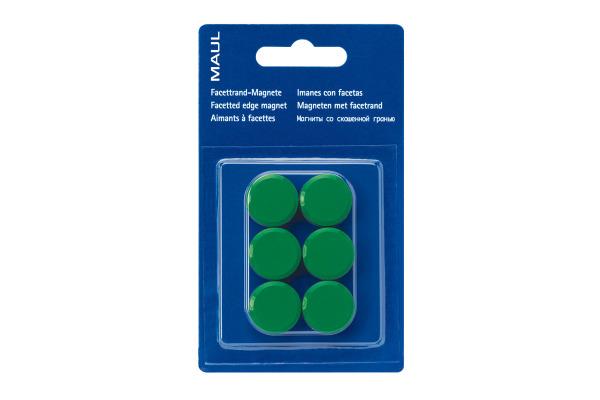 MAUL Magnete 20mm 6176255 grün 6 Stück