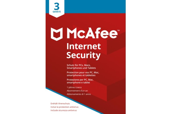 MCAFEE Internet Security MIS00GNR3 3 Devices (Code in a box)