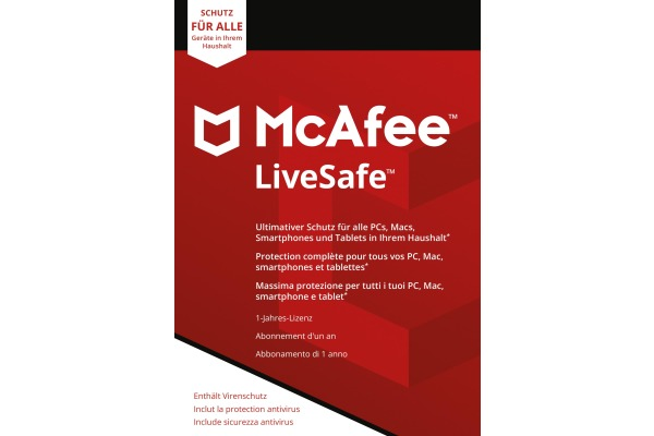 MCAFEE LiveSafe MLS00GNRU Unlimited Devices (Code)