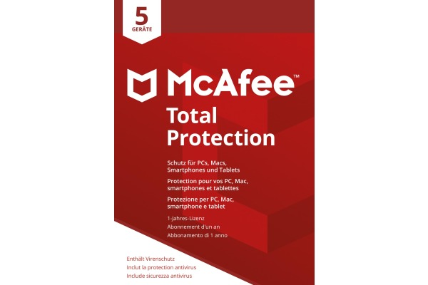 MCAFEE Total Protection MTP00GNR5 5 Devices (Code in a box)