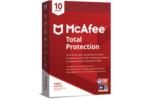 MCAFEE Total Protection MTP00MNRX 10 Devices (Code in a box)