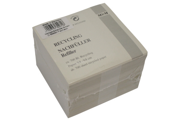 M&M Zettelbox Papier 98 x 98 mm 69210300 Recycling