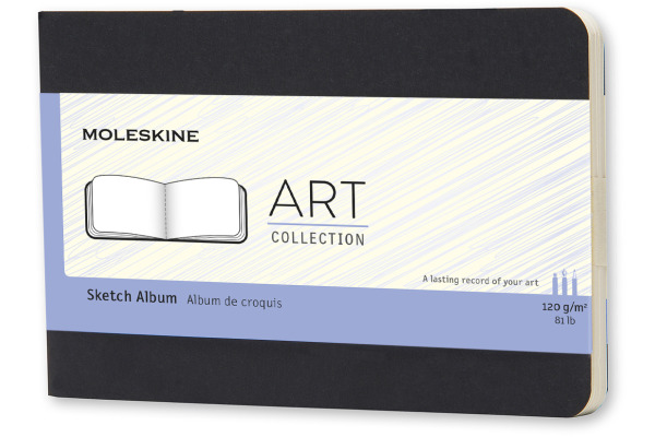 MOLESKINE Skizzenbuch A6 335-7 blanko schwarz