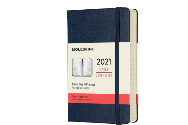 MOLESKINE Tageskalender P/A6 606327 1T/S,2021 1T/S, saphir HC