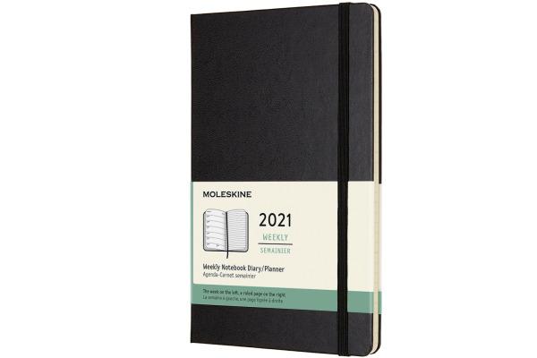 MOLESKINE Wochen-Notizkalender L/A5 606426 2021 1W/S,liniert schwarz HC