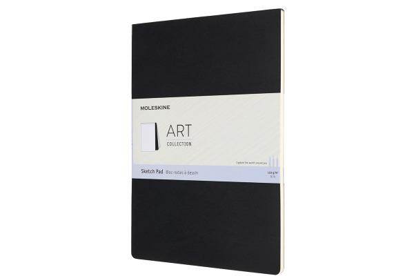 MOLESKINE Skizzenblock Karton A4 626857 blanko, schwarz, 48 Seiten