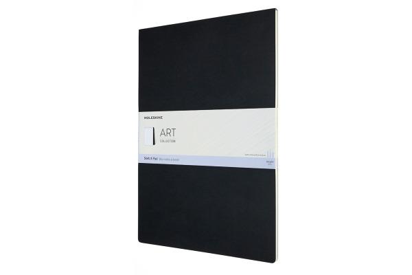 MOLESKINE Skizzenblock Karton A3 626864 blanko, schwarz, 48 Seiten