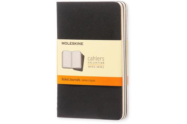 MOLESKINE Notizheft Cahier A6 704895 liniert, schwarz 3...