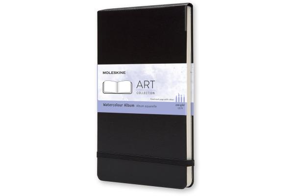 MOLESKINE Aquarell-Skizzenbuch A5 705625 blanko schwarz