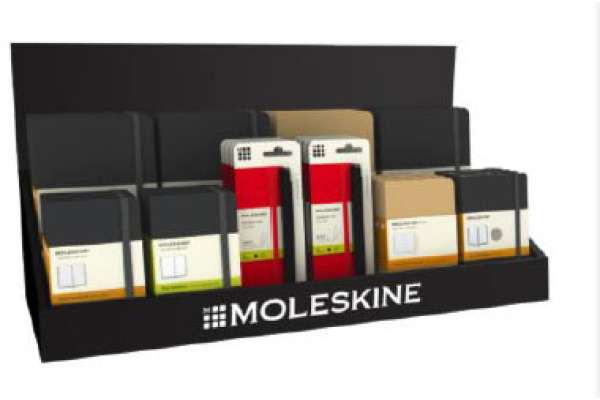 MOLESKINE Display Counter,L58xT21xH16cm 717561 Black36, Karton