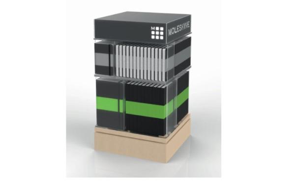 MOLESKINE Display Counter Spinner Pocket 718858 2 Ebenen, Plexiglas