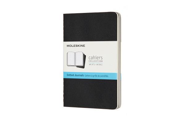 MOLESKINE Notizheft 3x 14x1.2x9cm 719206 gepunktet, schwarz, 64 Seiten