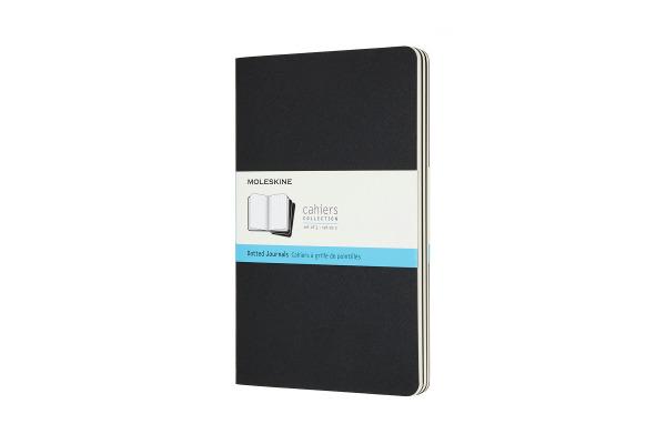 MOLESKINE Notizheft 3x 13x1.4x21cm 719213 gepunktet, schwarz, 80 Seiten