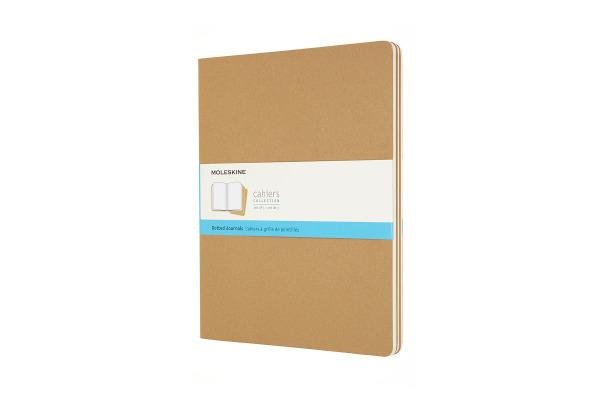 MOLESKINE Notizheft 3x 27.9x21.6cm 719275 gepunktet, braun, 120 Seiten