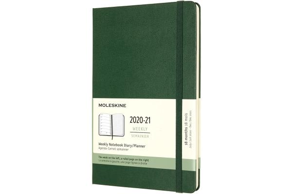 MOLESKINE Wochen-Notizkalender 20/21 A5 850178 18M liniert HC myrtengrün
