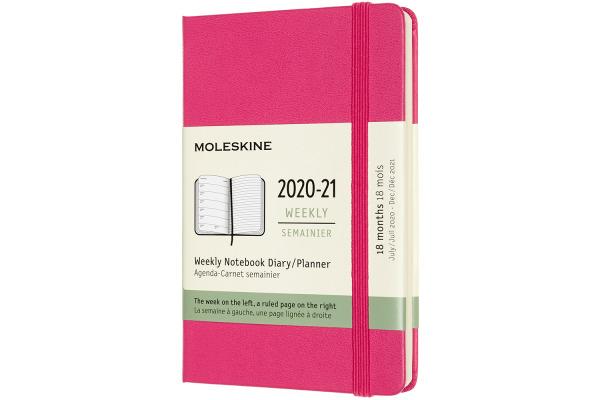 MOLESKINE Wochen-Notizkalender 20/21 A6 850758 18M lin. HC bougainville rosa