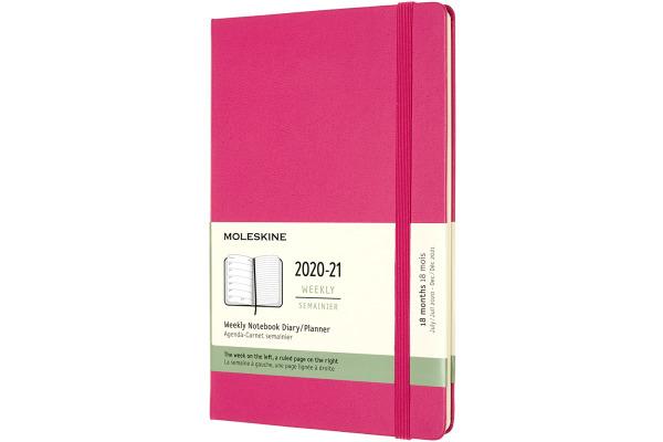 MOLESKINE Wochen-Notizkalender 20/21 A5 850765 18M lin. HC bougainville rosa