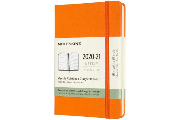 MOLESKINE Wochen-Notizkalender 20/21 A6 850772 18M liniert HC kadmium orange