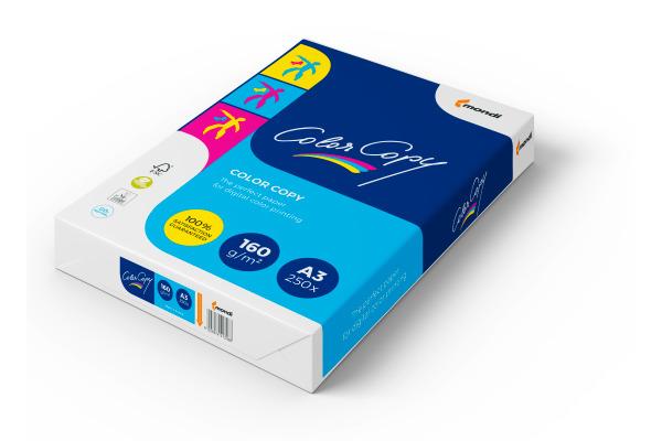 MONDI Color Copy Paper A3 88008635 160g, weiss 250 Blatt