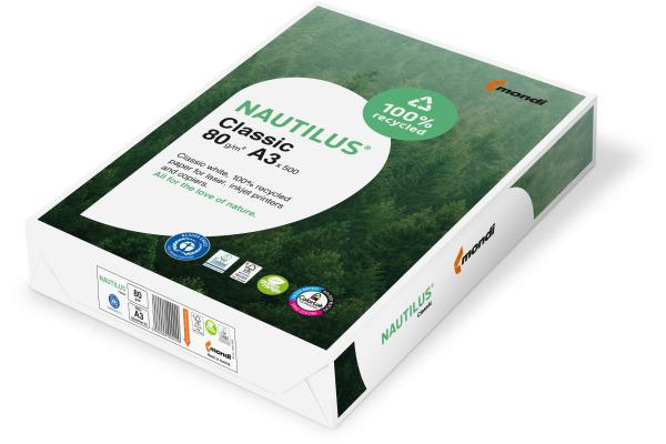 MONDI Nautilus Classic A3 88032444 80g, recycling 500 Blatt
