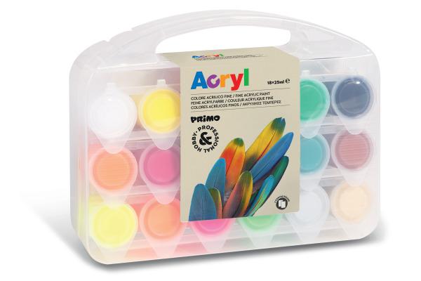 MOROCOLOR Acrylfarbe Primo 25ml 004095 ass. 18 Stück