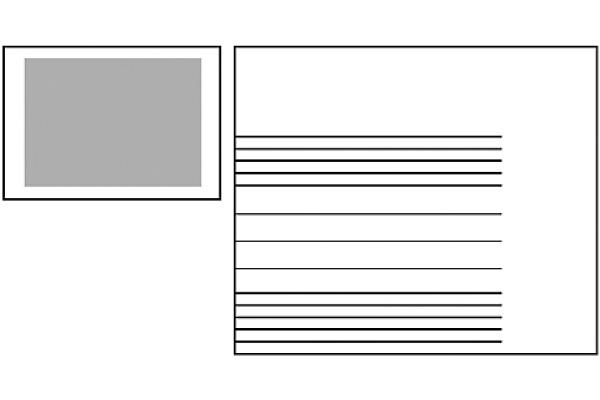 NEUTRAL Notenheft A5 02.0120.1 weiss 90g 2mm 20 Blatt