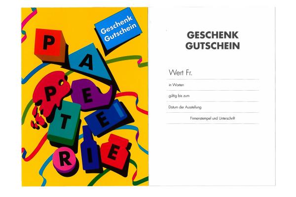 50 Stk Gutschein-Set Neutrale Geschenkgutscheine