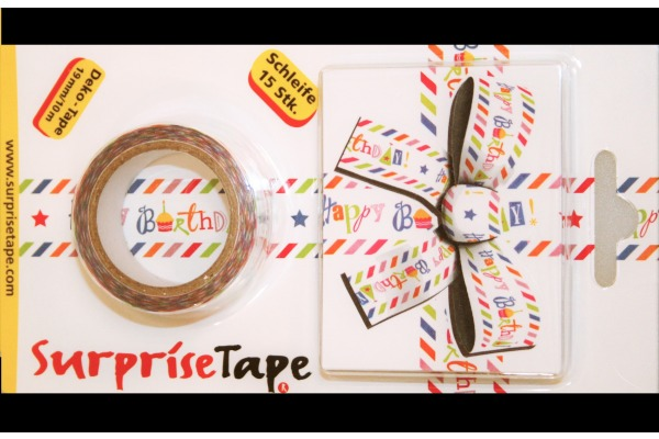 NEUTRAL Geschenkverpackung 2345-004 Surprisetape Happy Birthday
