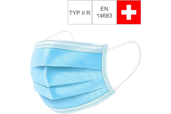 NEUTRAL Hygiene Maske Typ II R 33409 EN 14683, CH-Version