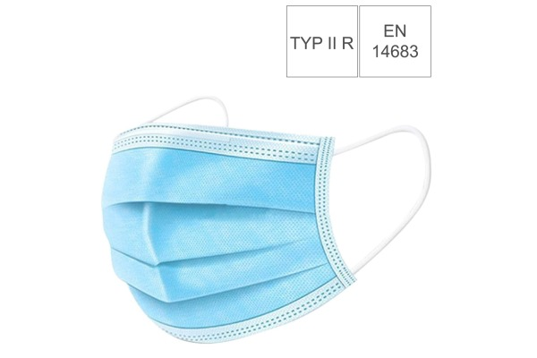 NEUTRAL Hygiene Maske Typ II R 34133 3-lagig, EN 14683 50 Stück