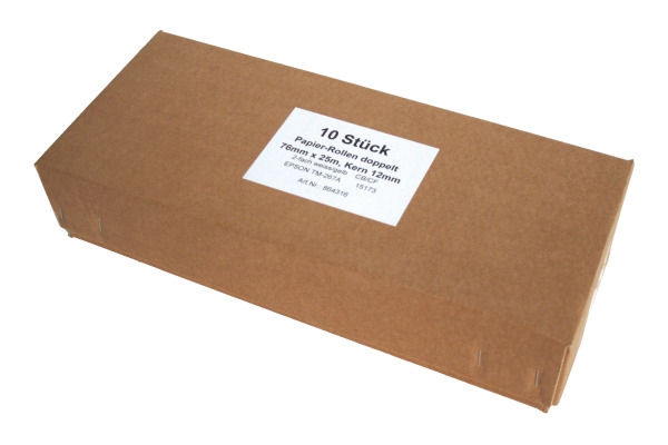 NEUTRAL Papierrolle 76mmx25m 864316 Epson TM-267A 5 Stück