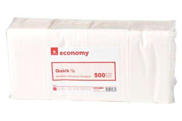 NEUTRAL Economy Servietten Quick 992455 weiss 500 Stück