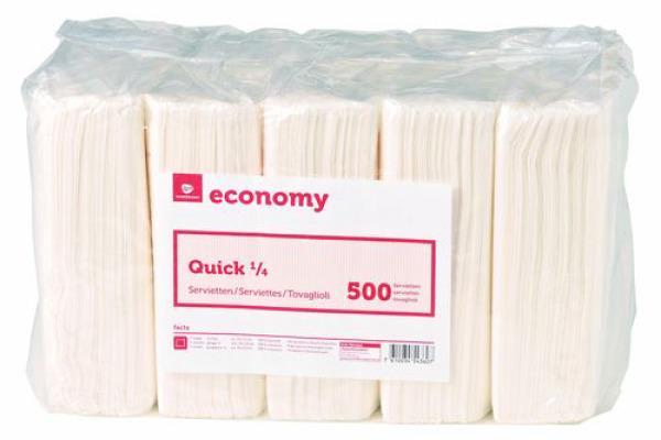 NEUTRAL Economy Servietten Quick 992474 weiss 5000 Stück