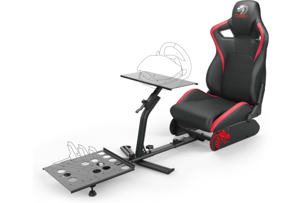 NITHO Cobra RM-1 S GCSERM1KC extra height seat, black/red