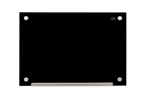 NOBO Glas Magnet Tafel 1903838 60x45cm schwarz
