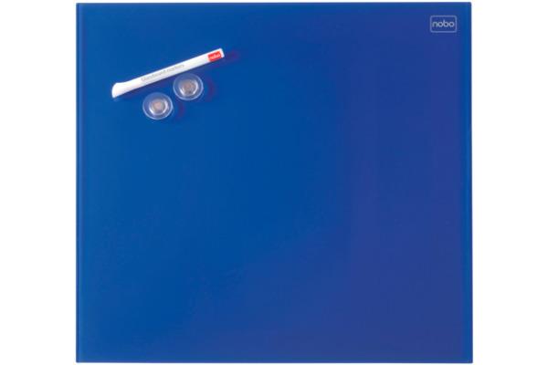 NOBO Glas Magnet Tafel 1903952 30x30cm blau