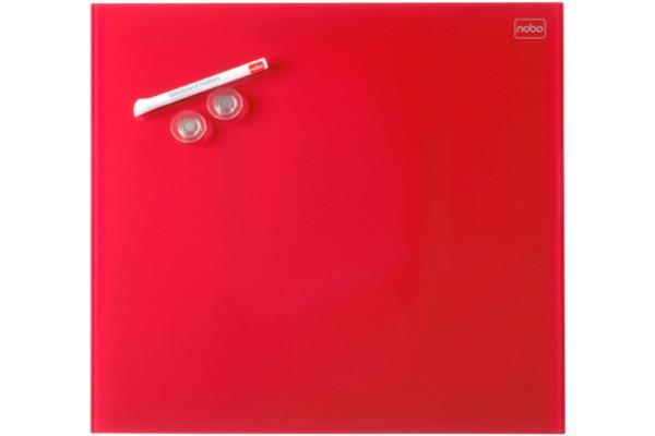 NOBO Glas Magnet Tafel 1903955 45x45cm rot