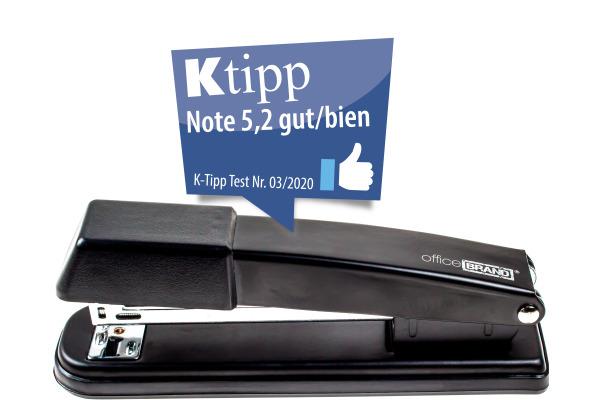 OFFICEBR. Heftapparat 24/6 901004 schwarz, inkl. Heftklammern